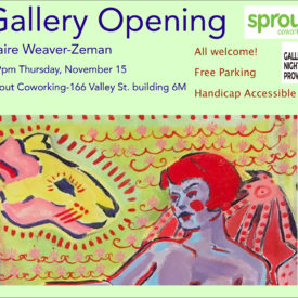 Gallery Night Providence November 2018 opening