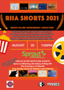 RIIA Shorts 2021 Screening @ Sprout CoWorking Providence, 166 Valley St, Building 6M Suite 103, Providence, RI 02909